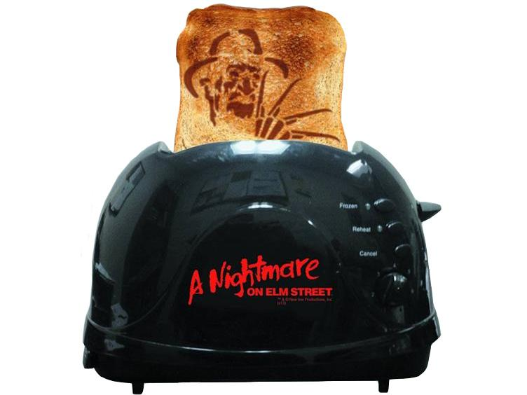 a nightmare on elm street toaster