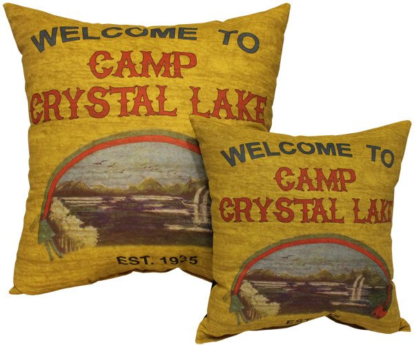 camp crystal lake pillow